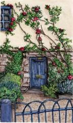 Door way. Oxford, U.K. Watercolor and Pen.