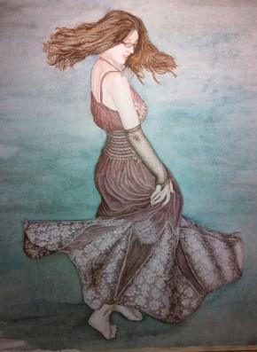 Sold. Dancer Watercolor
