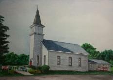Prints Available. Jenningville Church, Jenningsville, PA. Watercolor.