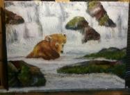 Sold. Sunday Bath, Acrylic