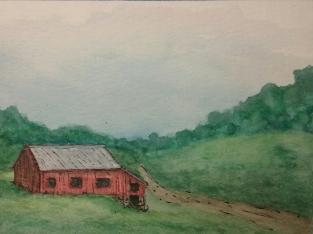 Sold. Pennsylvania mountains. Watercolor and Pen
