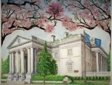Sold. DAR Constitution Hall, Washington, D.C. Watercolor
