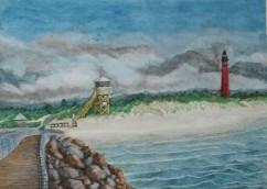 Sold. Ponce de Leon Inlet Lighthouse Daytona Beach, FL. Watercolor