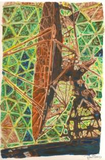 Prints Available. doppler radar watercolour