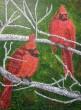 Birch Buddies, Acrylic