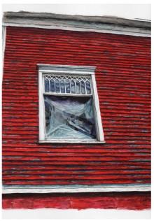 MFD original window. Meshoppen, PA. Watercolor