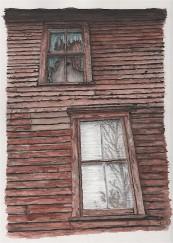Print Shop. Laceyville, PA. Watercolor.