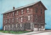 Print Shop. Laceyville, PA. Watercolor